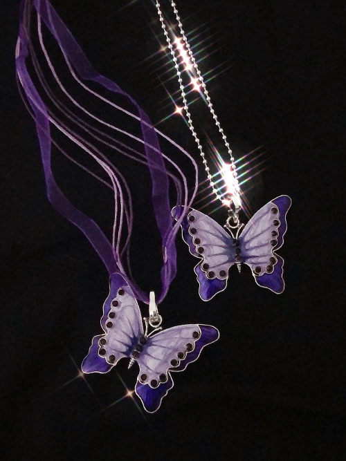 purple butterfly necklace (2 type)